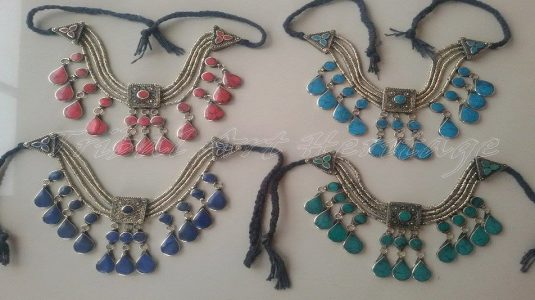 Afghan Tribal Chokers And Necklaces